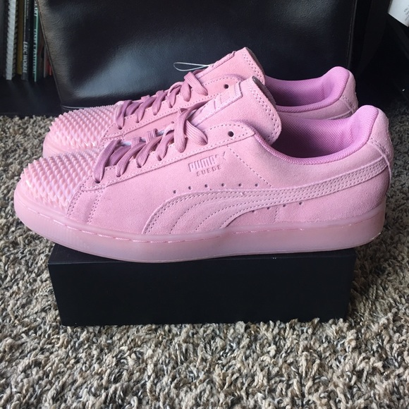 [Puma] Pink Suede Prism Sneakers Women's NEW